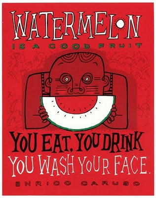 Screenprint - Watermelon is a good fruit
