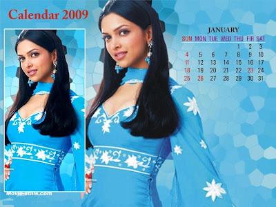 Deepika Padukone Calendar