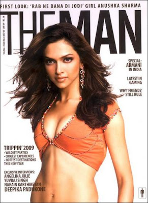 Deepika Padkone on The Man Magazine Cover