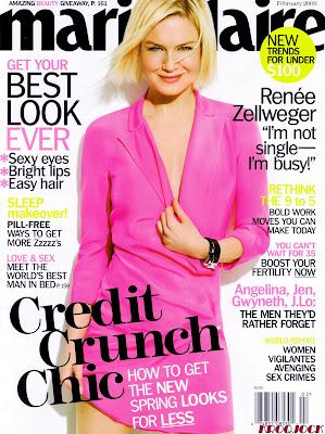 Renee Zellweger Marie Claire Magazine Scans