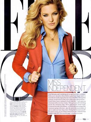 Kate Hudson Elle Magazine Scans