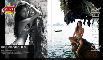 Kingfisher calender 2009 photos