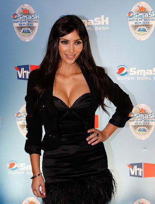 Kim Kardashian at the Pepsi Smash Super Bowl Bash Photos
