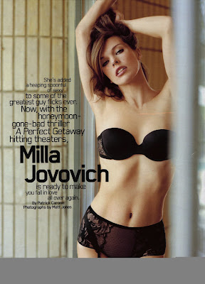 Milla Jovovich Maxim Scans