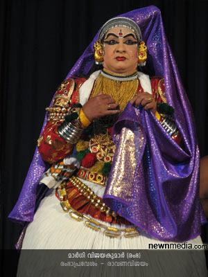 RambhaPravesham Kathakali (Selected scenes from RavanaVijayam): Margi Vijayakumar as Rambha.