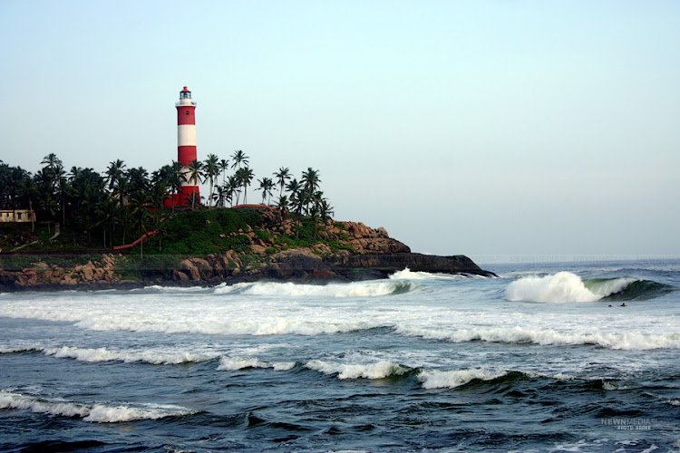 Lighthouse beach at Kovalam.