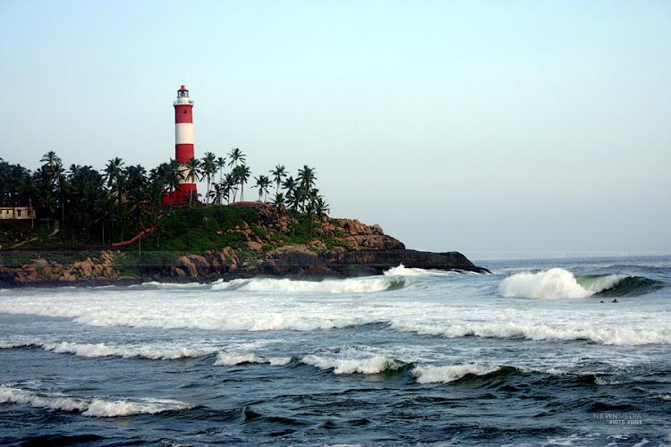 Lighthouse beach at Kovalam.