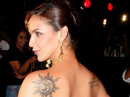 Bollywood Tattoo-Celebrity Tattoo - Esha Deol Tattoo
