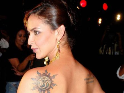 Celebrity Tattoo - Esha Deol Tattoo
