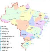 Locais Por onde o Programa já passou. Postado por Tv PiÁ às 11:40 AM (mapa brasil )
