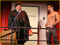 Kevin Chamberlin and Matthew Montelongo in The Ritz by Terrence McNally at the Roundabout in NYC
