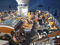 On the deck of the Wind Spirit. Travelpride's Caribbean New Year's Gay Cruise