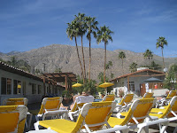 View from one of the pools at All Worlds Resort, Palm Springs