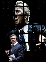 Michael Sheen and Frank Langella in Frost/Nixon.