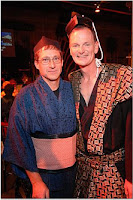 GuyDads in costume from musical Pacific Ovetures for 'Anything Goes' Gala