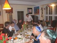 Passover seder for 16 men