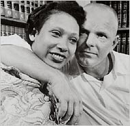 Mildred Loving, a black woman whose anger over being banished from Virginia for marrying a white man led to a landmark Supreme Court ruling overturning state miscegenation laws, died on May 2 at her home in Central Point, Va. She was 68. -NYT