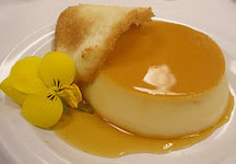 Coconut Crème Caramel with Coconut Tuile