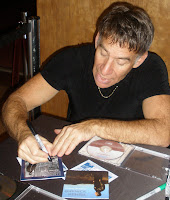 Stephen Schwartz autographs his CD for us