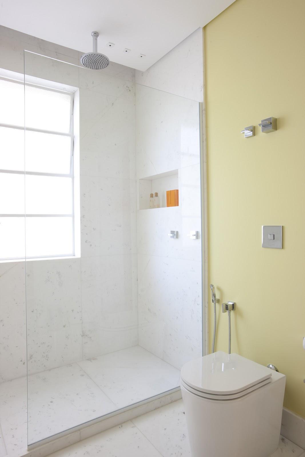 AMC Arquitetura: Cor no banheiro #A66825 1067x1600 Arquitetura No Banheiro