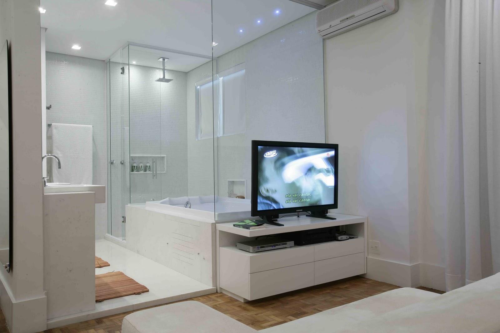 Banheiro Integrado Ao Quarto Pequeno ~ AMC  Arquitetura Morar em 400 M2