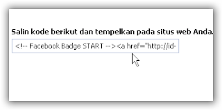 Badge Profil Facebook di Blog