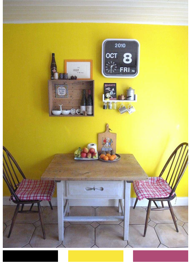 Bright Bazaar Yellow Kitchen With A Rustic Twist