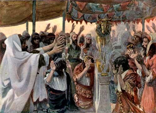 gambar orang yang menyembah berhala