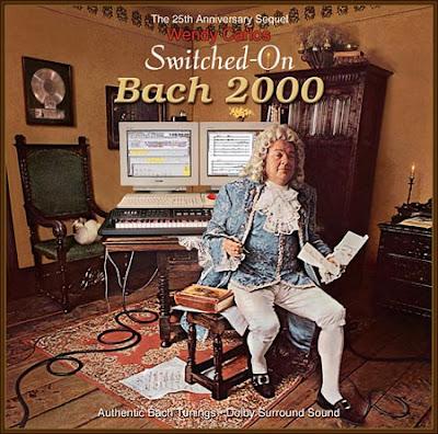 A capa de Switched On Bach 2000, uma reprodução da original de 1967.