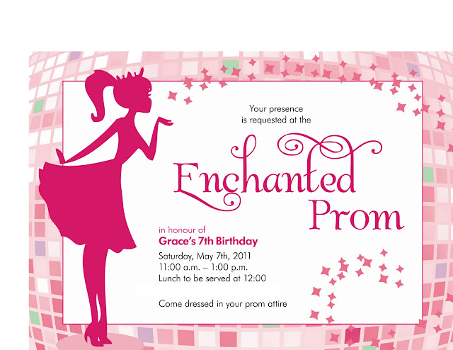 Buckets of Grace Enchanted Prom Birthday Party Part I The Favors – 90th Birthday Invitation Wording Samples