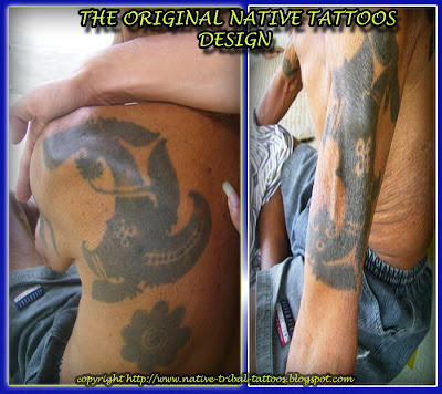 This type of tattoo is sign of originality borneo native people call 'Dayak'