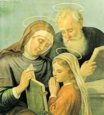 Santa Ana e São Joaquim, avós de Maria