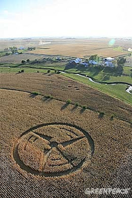 Wind turbine crop circle