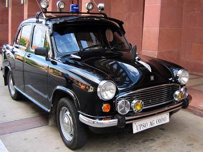 Police car in India.