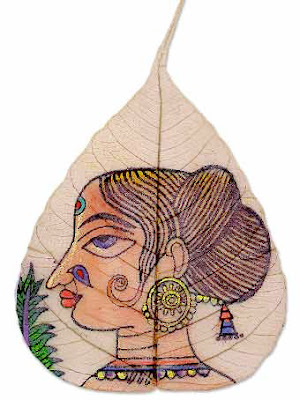 Paintings On Leaves (16) 6