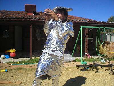 tinfoil suit