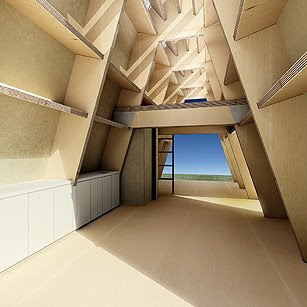 The cardboard house. 2