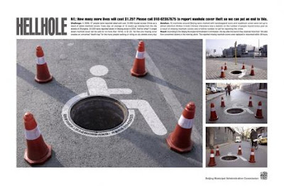 Creative and Clever Uses of Manhole In Advertisements (6) 4