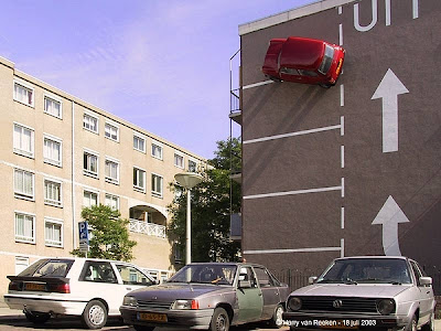 Car Parked on Side of a Building (3) 2