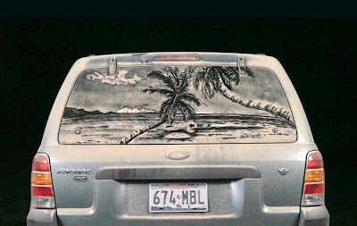 Painting on car windows using dirt (11) 15