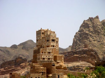 Dar al Hajar or Rock Palace in Wadi Dhahr.