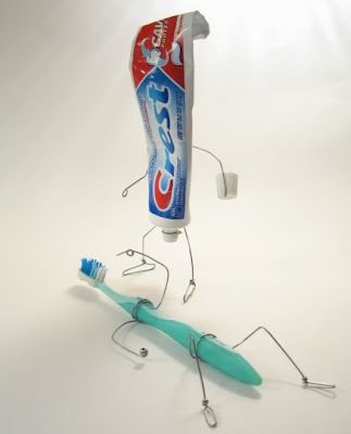Tooth paste & brush