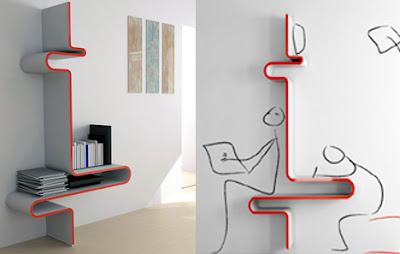 Cool and Creative Bookshelf