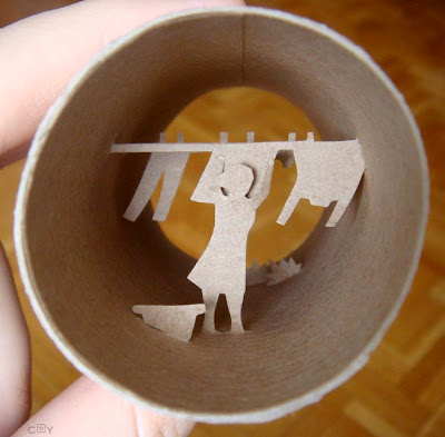 Artwork Created Inside The Toilet Paper Rolls (15) 5
