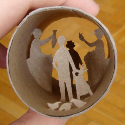 Artwork Created Inside The Toilet Paper Rolls (15) 11