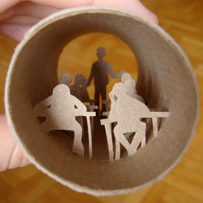 Artwork Created Inside The Toilet Paper Rolls (15) 8