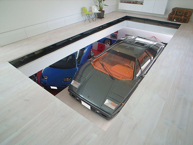 Incredible Hidden Car Garage Designs.