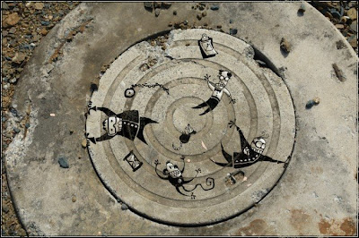 art on a sewer