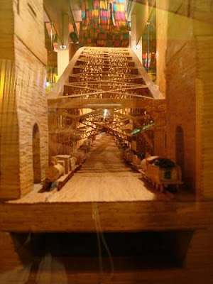 Sydney Harbor Bridge re-created using matchsticks (2)