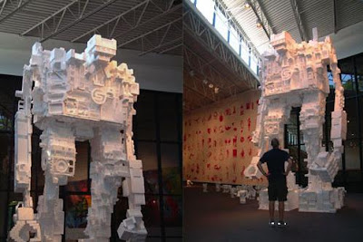 Styrofoam robots by Michael Salter